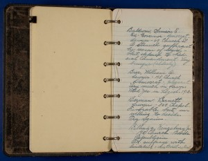Gladys Bragdon Notebook, Section B, Page 01
